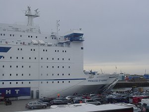Our ship docked in IJmuiden